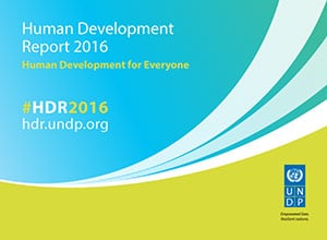 Human Development Report, 2016, cover