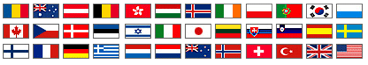 Flags of countries where UNICEF is present