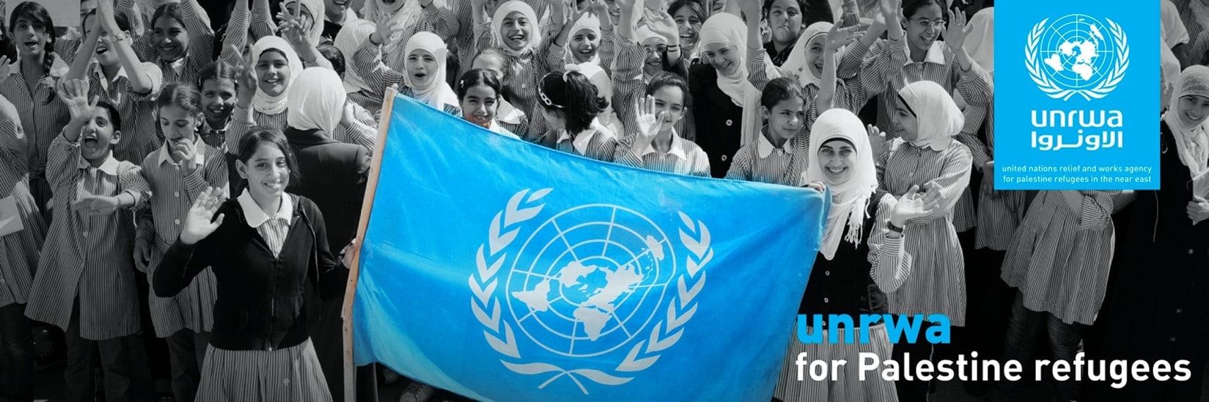 UNRWA banner