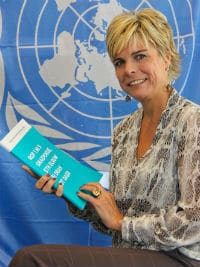 Princess Laurentien of the Netherlands with the report