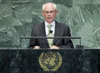 Herman Van Rompuy addresses the general debate of the 67th session of the UN General Assembly © UN Photo/Marco Castro