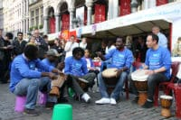 Drumming for peace - UN Day 2012 in Brussels