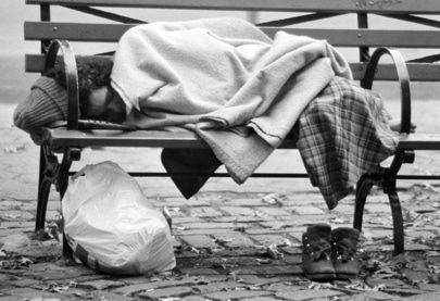 The homeless © UN Photo/Pernaca Sudhakaran